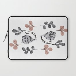 cats and flowers pattern Laptop Sleeve