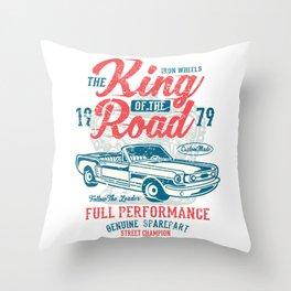 Iron Wheels King Of The Road 1979 Throw Pillow