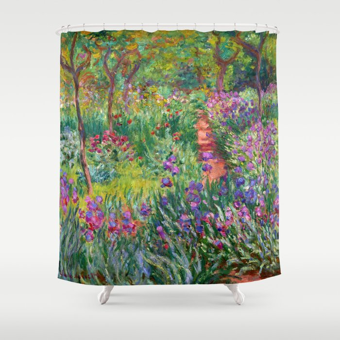Claude Monet - The Iris Garden At Giverny Shower Curtain