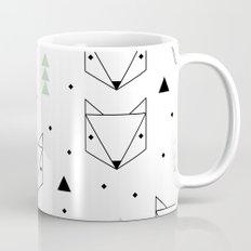 Scandinavian woodland fox forest mint black and Mug