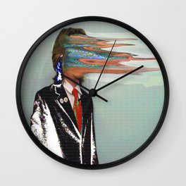 NO ONE AROUND HERE HAS THE GUTS Wall Clock