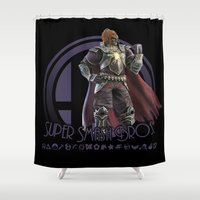 super smash bros Shower Curtains featuring Ganondorf - Super Smash Bros. by Donkey Inferno