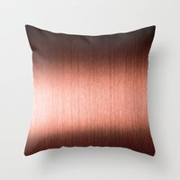 copper Throw Pillows featuring Copper by Robin Curtiss