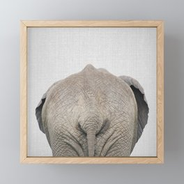 Elephant Tail - Colorful Framed Mini Art Print