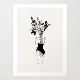 Tumblr Room Decor | Trippy Prints, Girlfriend Gift Gift for Boyfriend Line Art Print Line Drawing Pr Art Print
