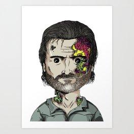 Rick Grimes The Walking Dead zombie portrait Art Print