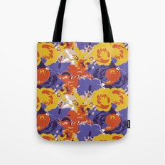 Retro Floral Tote Bag