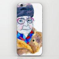 soviet iPhone & iPod Skins featuring Soviet babushka by Miurita