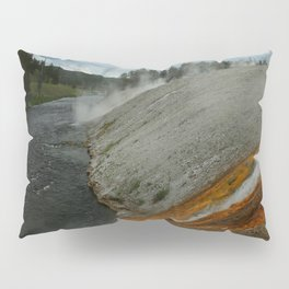 Thermal Geyser Runoff Into Firehole River Pillow Sham