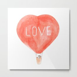 LOVE in the air Metal Print