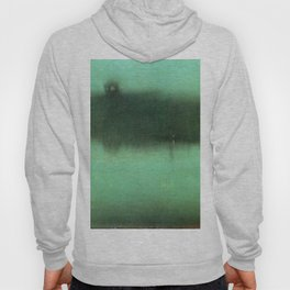 Nocturne Grey And Silver 1875 By James Mcneill Whistler | Reproduction Hoody