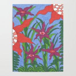 Boho Garden Blues Poster