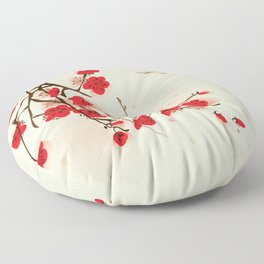 Oriental plum blossom in spring 011 Floor Pillow