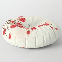 Oriental plum blossom in spring 011 Floor Pillow