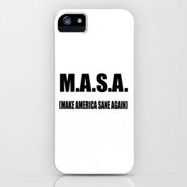 M.A.S.A iPhone Case