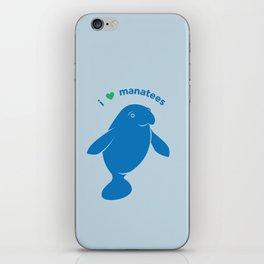 I love Manatees iPhone Skin