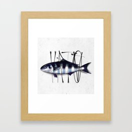 Tag on Fish V Framed Art Print