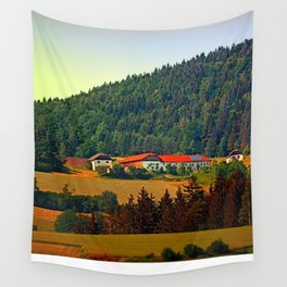 Farm taking an afternoon nap Wall Tapestry
