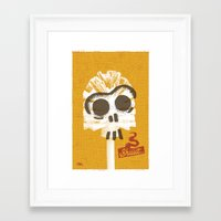 toilet Framed Art Prints featuring Toilet Brush by YONIL