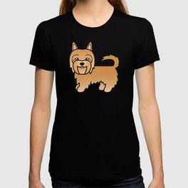 Sandy Australian Terrier Dog Cute Cartoon Illustration T-shirt