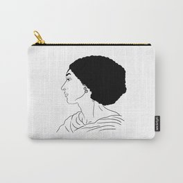 Fanny Eaton black outlines drawing Carry-All Pouch