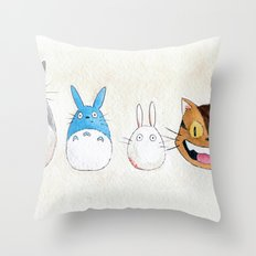 Make the Unlikeliest of Friends, Wherever You Go Throw Pillow