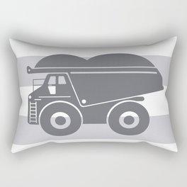 Grey on Grey Dump Truck Rectangular Pillow