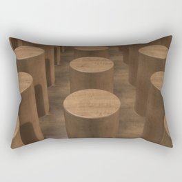Wood with cylinders Rectangular Pillow