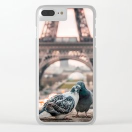 Romantic City Clear iPhone Case