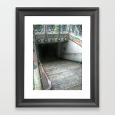 Do You Dare Enter? Framed Art Print