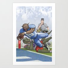 Wildcats versus Gators Art Print