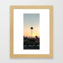 San Diego Palm Sunset Framed Art Print