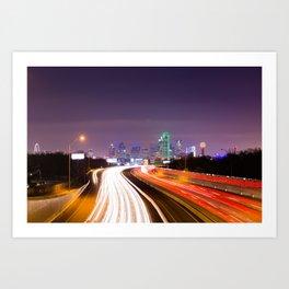 The Road to Dallas Art Print