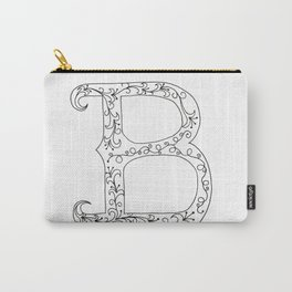 B- Letter Collection White Carry-All Pouch