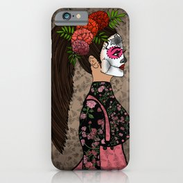 Rosa Maria on the Day of the Dead iPhone Case