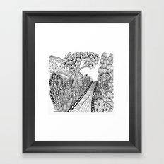 Zentangle Illustration - Road Trip Framed Art Print