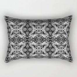 ZedEx Black Rectangular Pillow