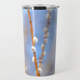 Willow Catkins Blue Sky Spring Mood Travel Mug