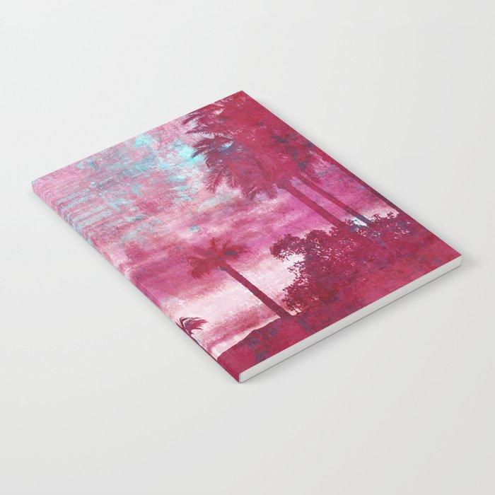 Pacific Island Grunge Look Mixed Media Art Notebook