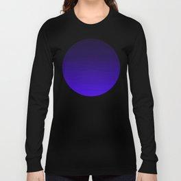 Deep Dark Indigo Ombre Long Sleeve T-shirt