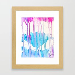 A flower blooms amid a storm Framed Art Print
