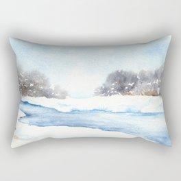 Mid-Winter Musing Rectangular Pillow