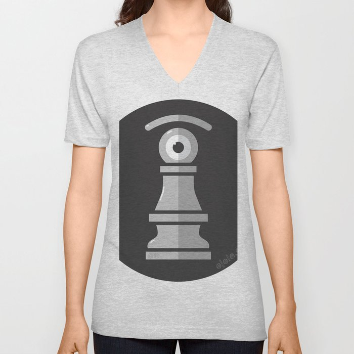pawn's eye b&w Unisex V-Neck