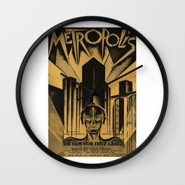Metropolis, Fritz Lang, 19, vintage movie poster Wall Clock