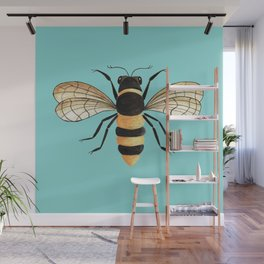 Gold Bee Wall Mural