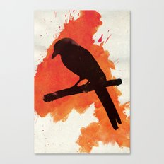 Dark Wings, Dark Words Canvas Print