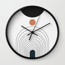 Abstract art circles and endless gate  Wall Clock