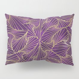 Tangles Violet and Gold Pillow Sham