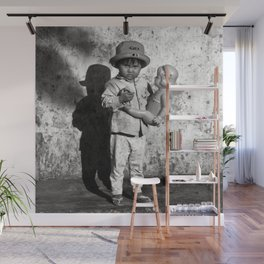 GIRL WITH DOLL in VIETNAM Wall Mural