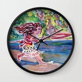 Moana the Brave Wall Clock